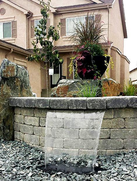 water feature winnipeg landscape company